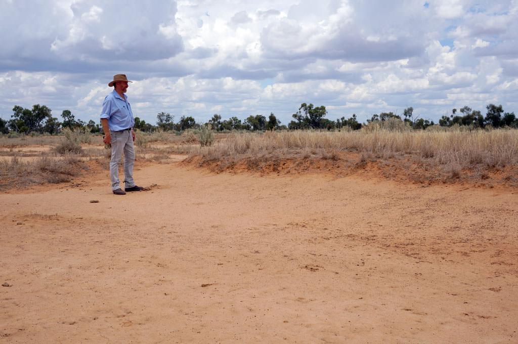 Ray Thompson showing level of erosion