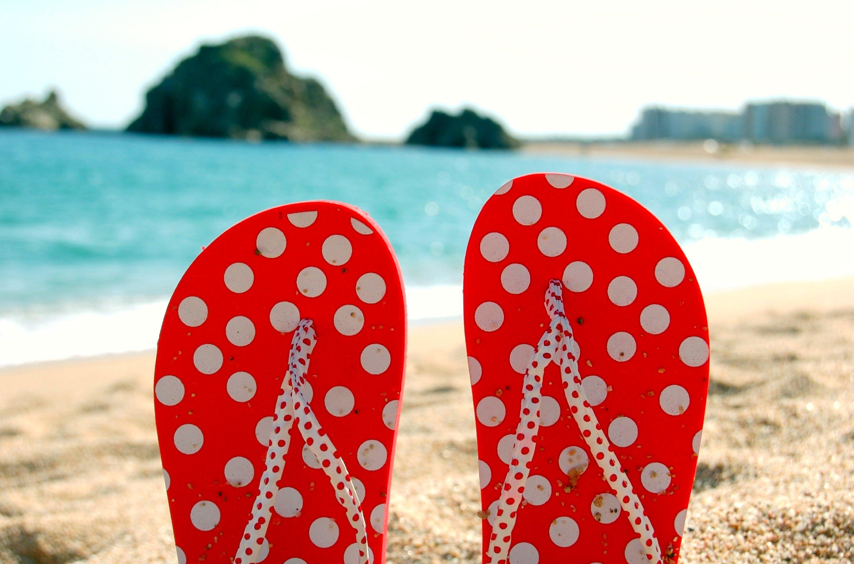 Thongs at the beach.