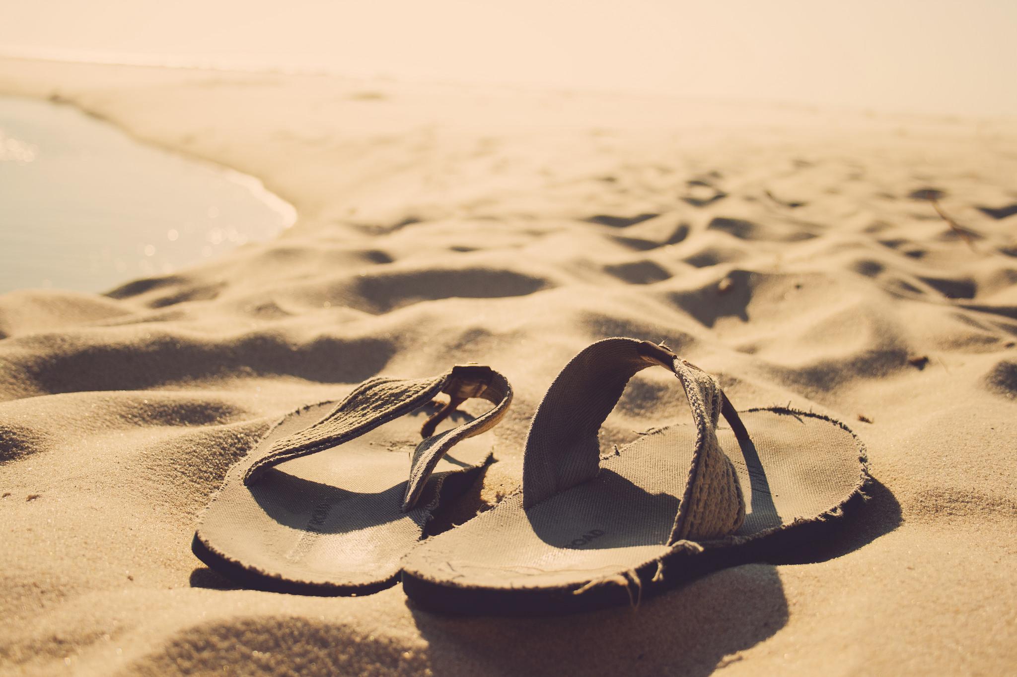 Thongs in sand