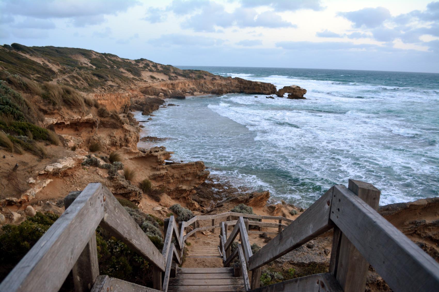 Stairs to Bridgewater Bay