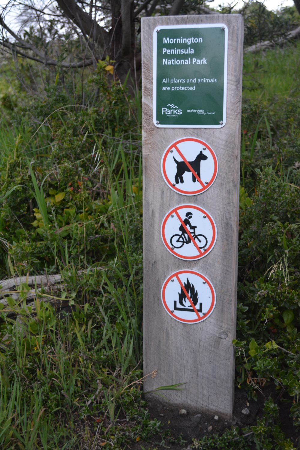 Notices in the national park